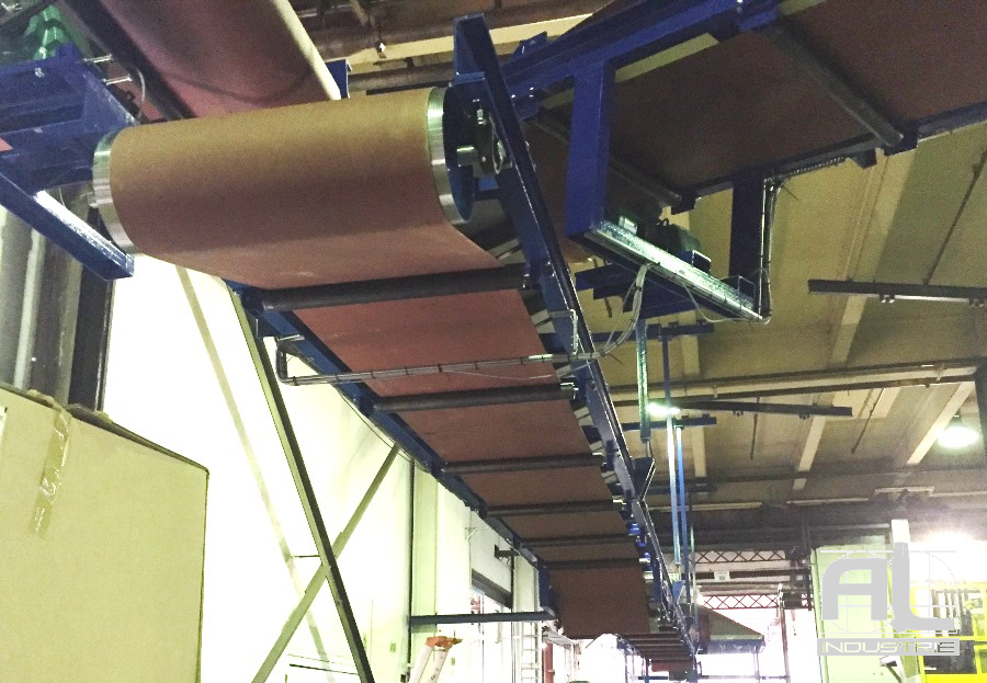 Convoyeur a bande en auge - Convoyeur bande en auge - Recyclage