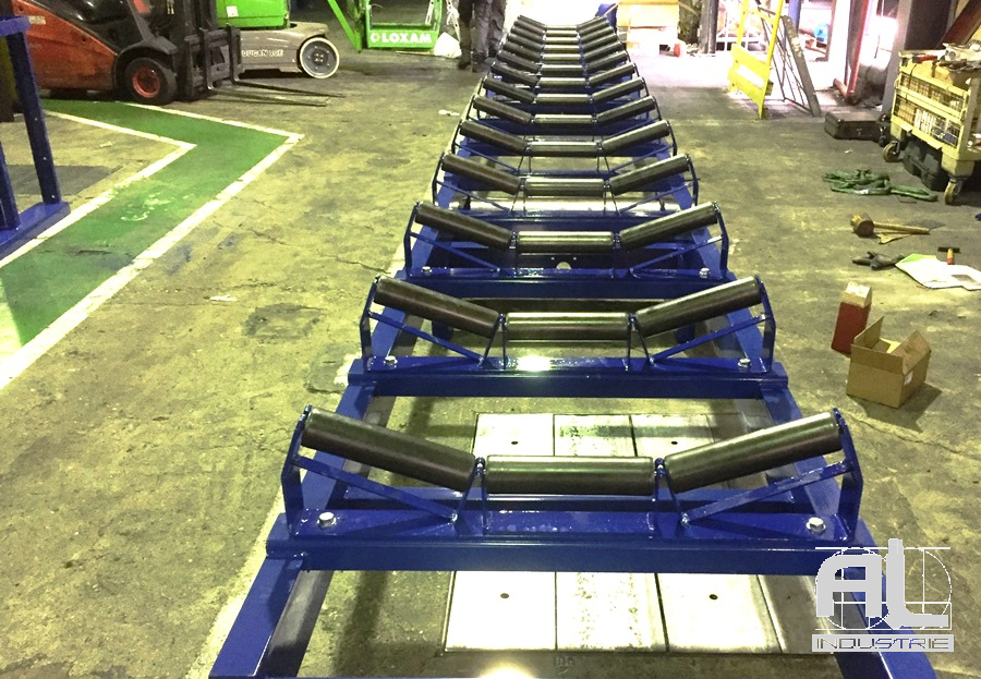Convoyeurs a bande - Convoyeur bande en auge - Recyclage