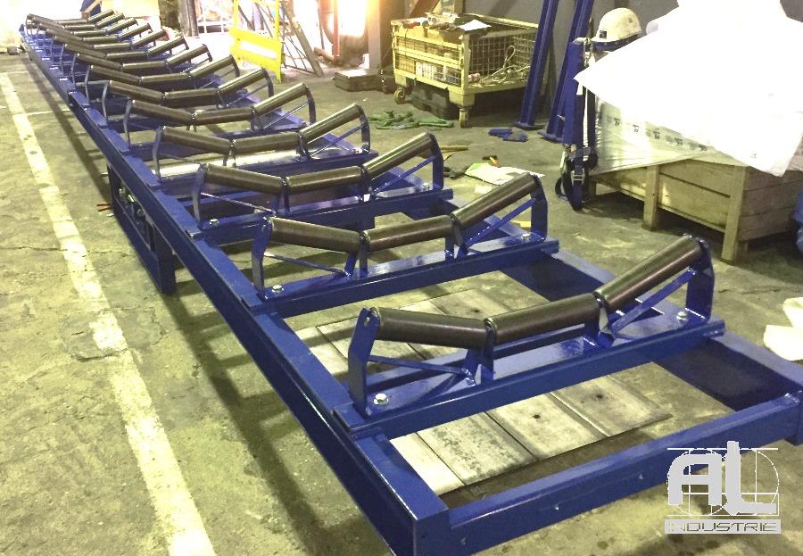 Structure convoyeur auge - Convoyeur bande en auge - Recyclage