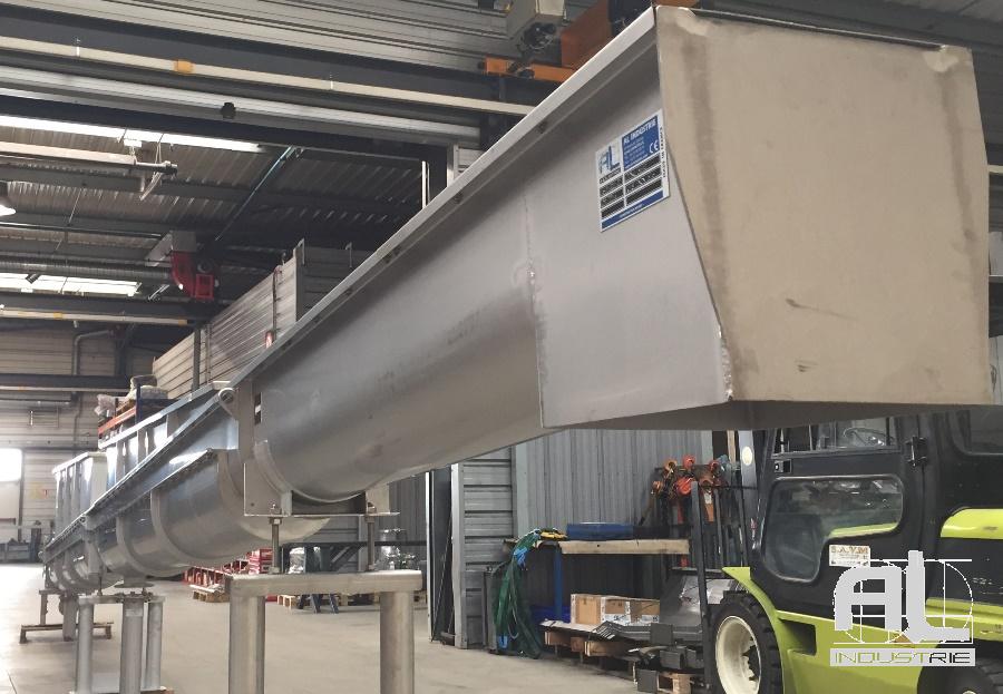 Convoyeur vis - Convoyeur traitement des eaux - Recyclage