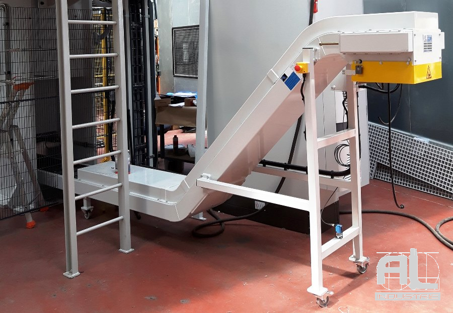 Convoyeur à tapis machine détourage - Convoyeur de détourage - Mécanique