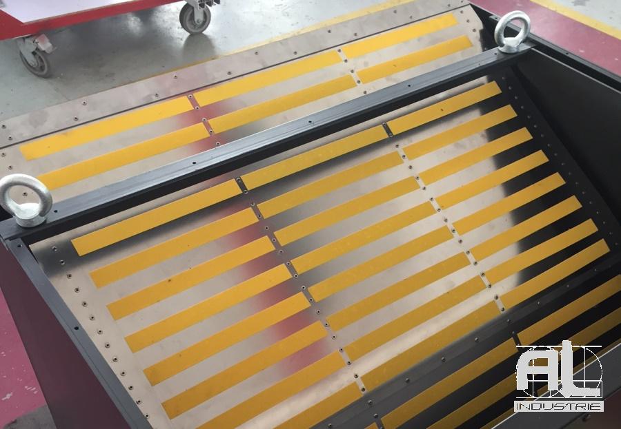 Enrouleur de protection fosse - Couverture fosse machine - Tôlerie