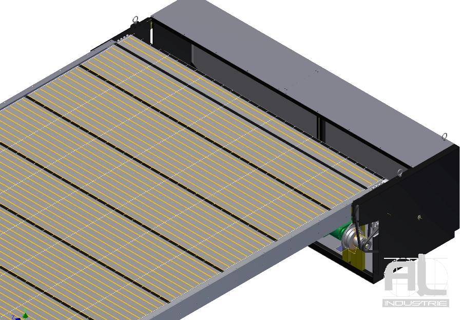 Enrouleur protection fosse - Couverture fosse machine - Tôlerie