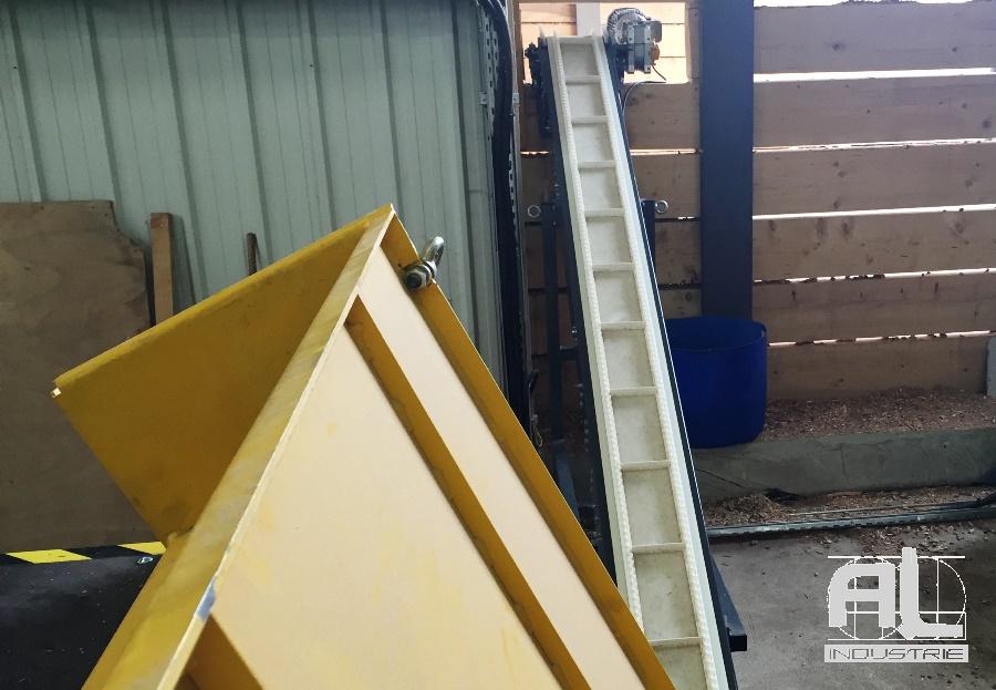 Convoyeur déchets bois - Convoyeur broyeur palettes bois - Filière bois