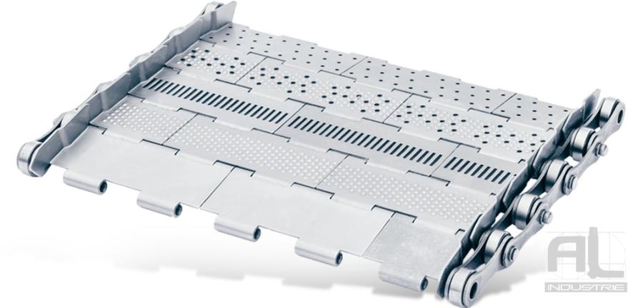 tapis de convoyeur T38 - Tapis métallique convoyeur pas 38.1 mm - Tapis métallique convoyeur