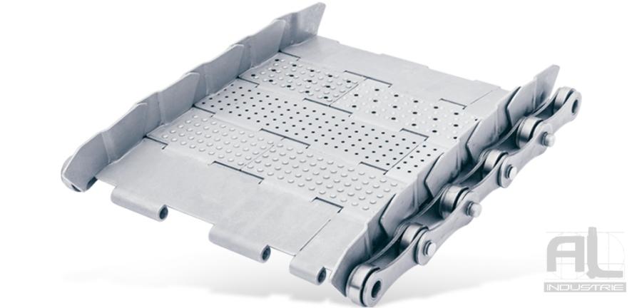 Tapis métallique 63 - Tapis métallique convoyeur pas 63 mm - Tapis métallique convoyeur