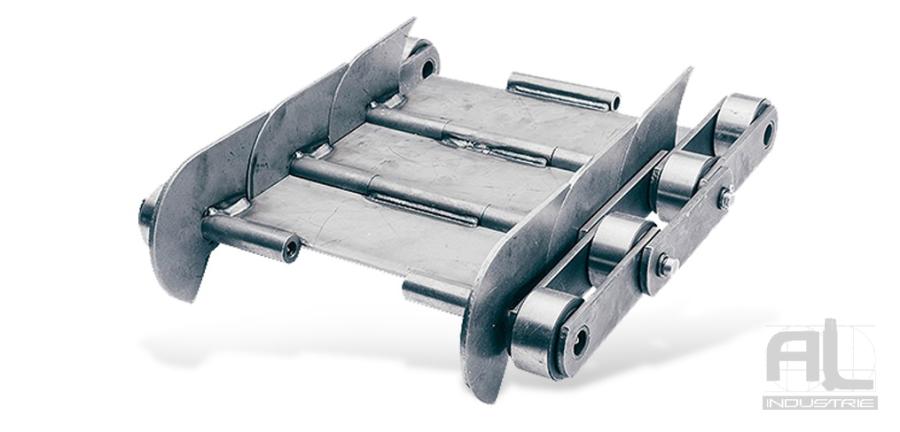 tapis de convoyeur T100 - Tapis métallique convoyeur pas 100 mm - Tapis métallique convoyeur