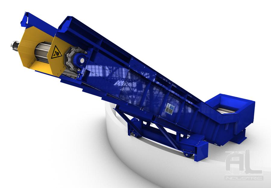 Convoyeur ferraille - Convoyeur évacuation déchets - Recyclage