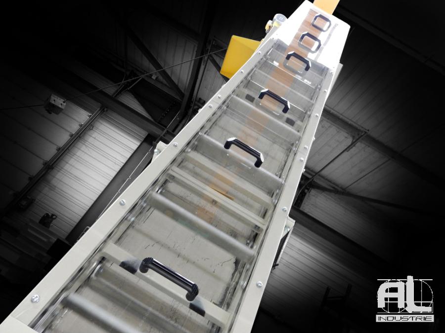 evacuation chutes de bois - Convoyeur raclettes chutes de roseaux - Filière bois