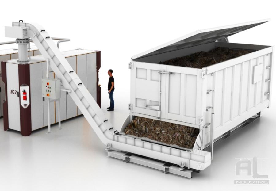 convoyeur plaquette bois centrale bioenergetique - Le convoyeur à tapis bioénergétique - Recyclage