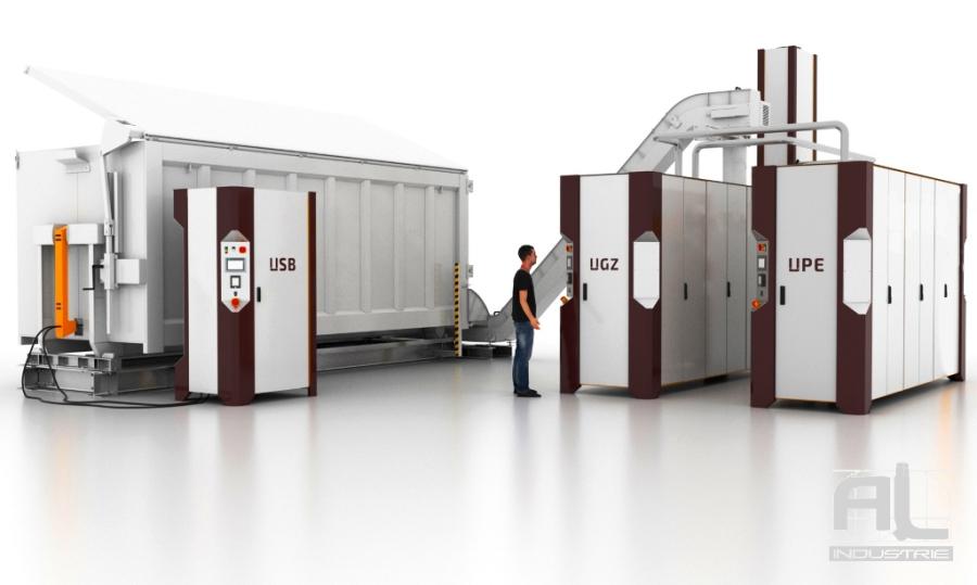 convoyeur a tapis centrale bioenergetique - Le convoyeur à tapis bioénergétique - Recyclage