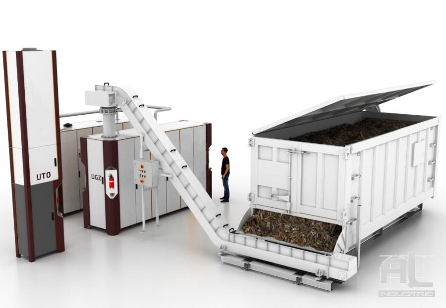 convoyeur bois centrale gazeification - Le convoyeur à tapis bioénergétique - Recyclage