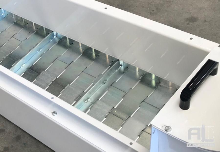 tapis métallique  electro zingué - Le convoyeur à tapis bioénergétique - Recyclage