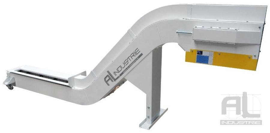 convoyeurs machine outils - Convoyeur tapis chutes aluminium - Sidérurgie