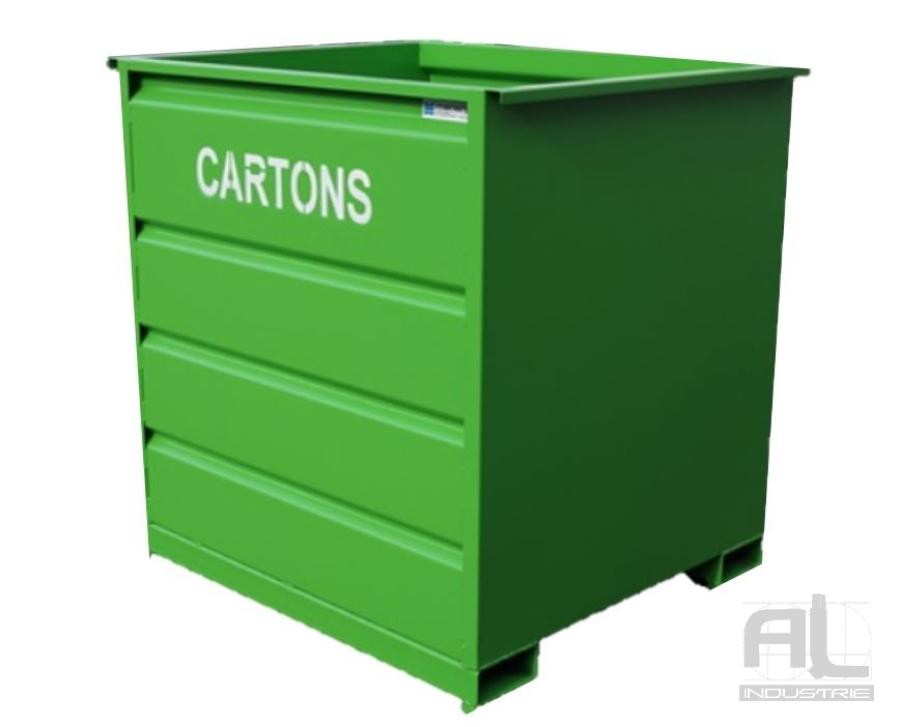 benne dechets - Benne déchets industriels 1500 Litres - Bennes caisse