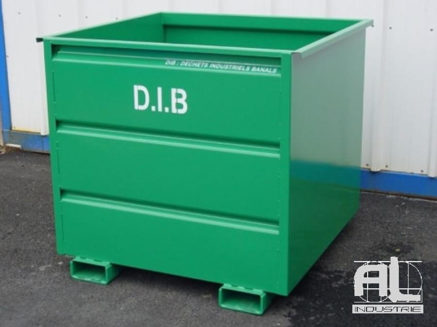 bennes dechets industriels - Benne déchets industriels 1500 Litres - Bennes caisse