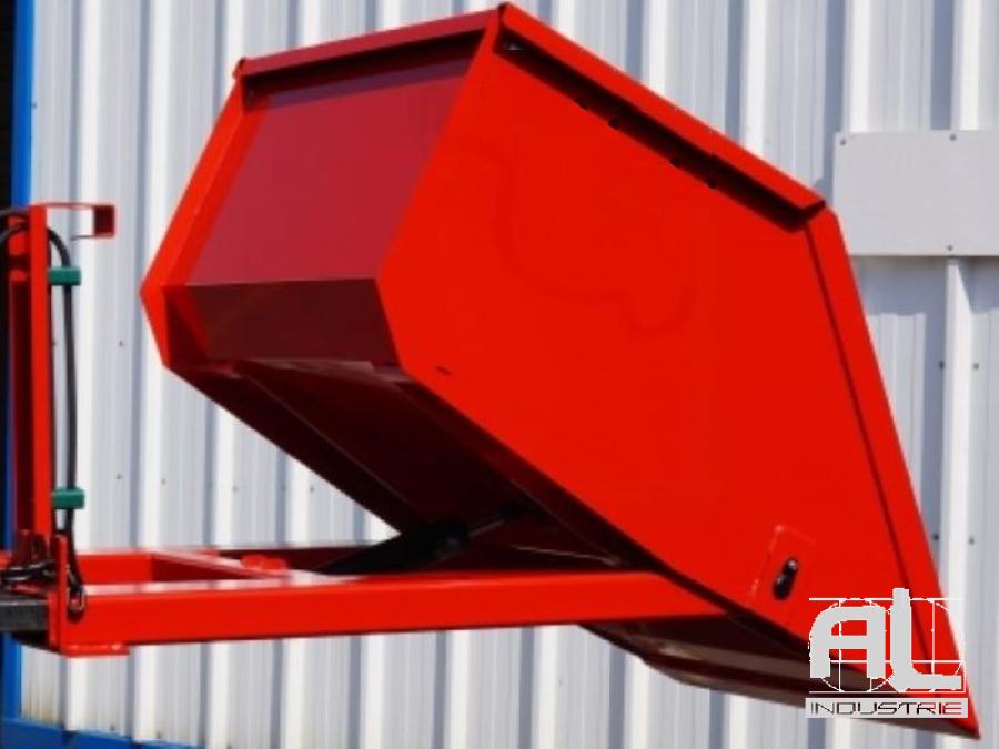 benne godet hydraulique - Benne à godet hydraulique 500 Litres - Bennes godet hydraulique