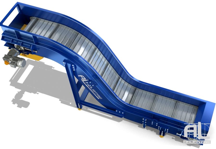 convoyeur evacuateur tapis acier - Convoyeur tapis T100 - Convoyeurs à tapis