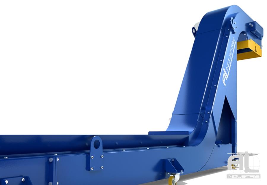 Convoyeur tapis charnieres acier - Convoyeur tapis T63 - Convoyeurs à tapis