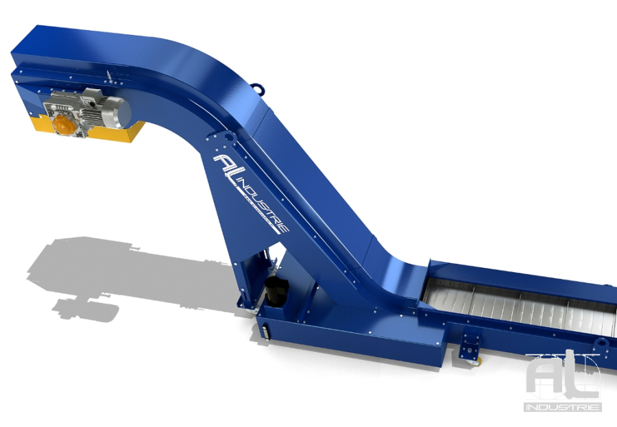 convoyeurs machines outils bandes acier - Convoyeur tapis T63 - Convoyeurs à tapis